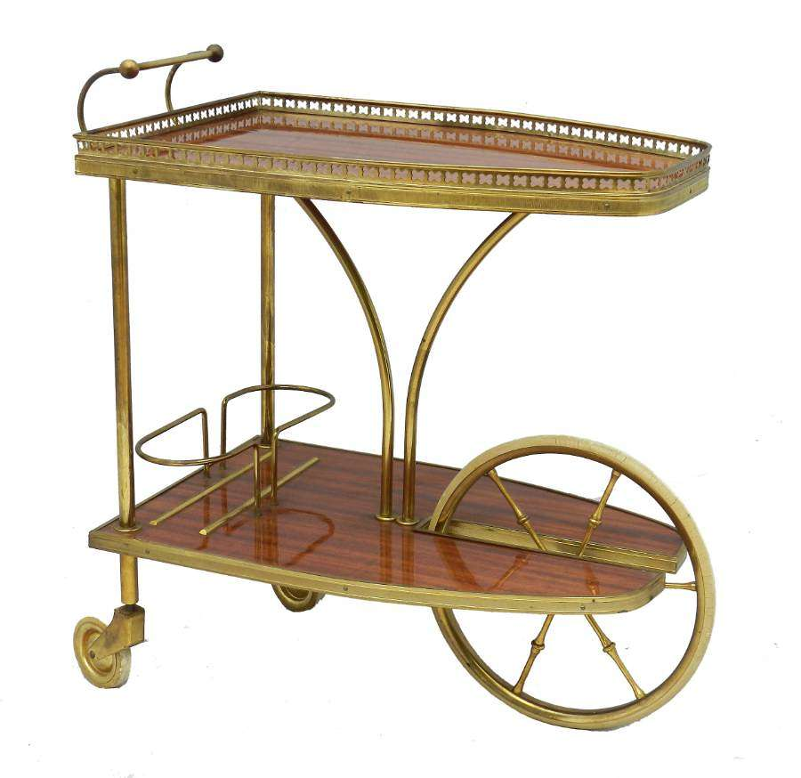 Midcentury Bar Cart Drinks Trolley Cocktail Table French