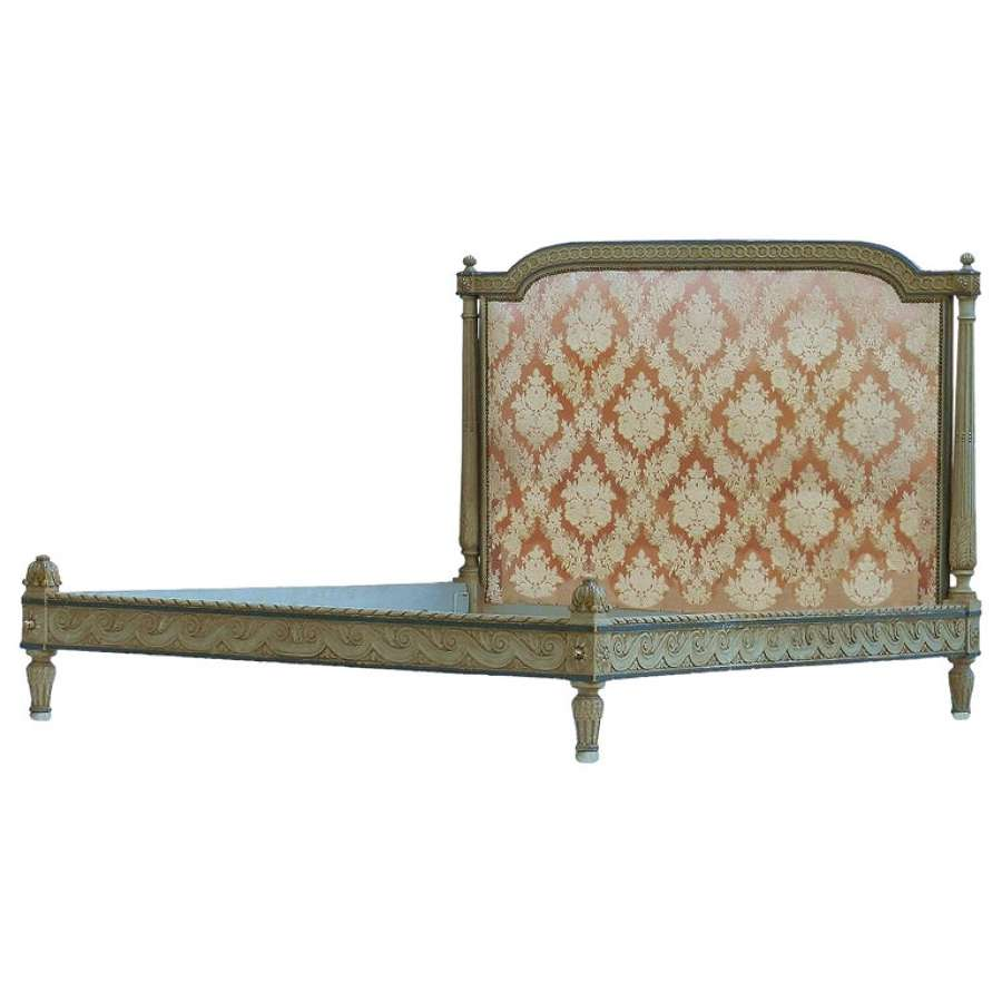 Antique French Bed US Queen UK King Size Includes Recovering Belle Epoque Louis