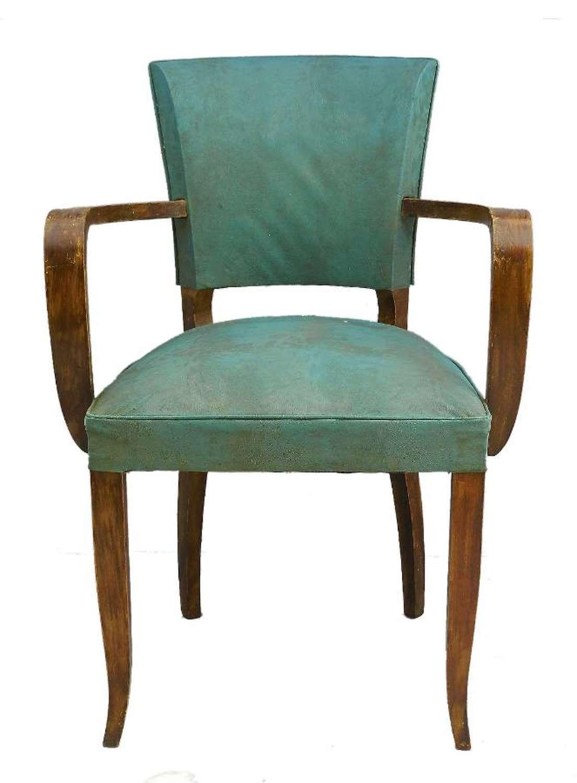 French Bridge Chair Art Deco
