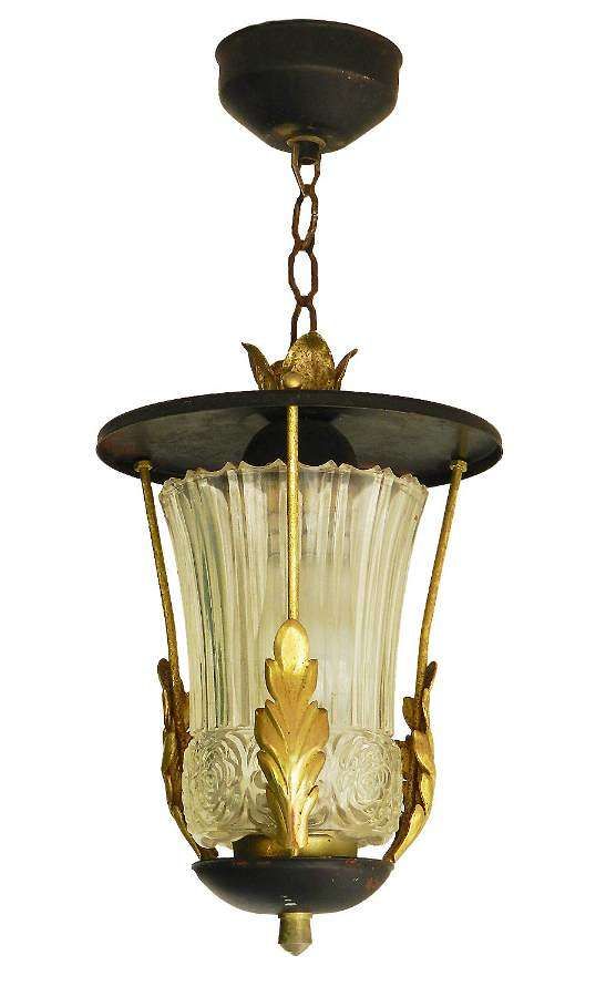 Mid century Pendant Light Lantern attributed to Poillerat