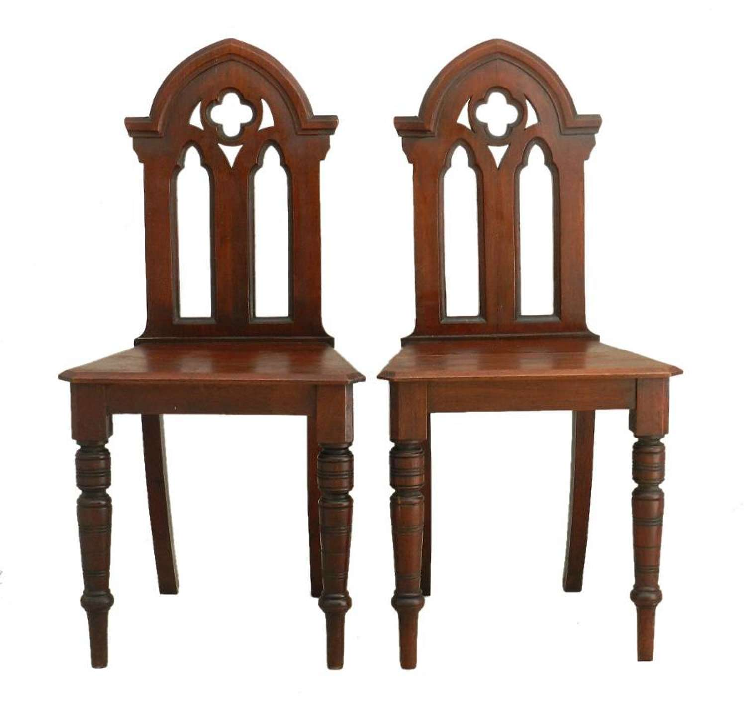 Pair Gothic revival Side Chairs late 19th century