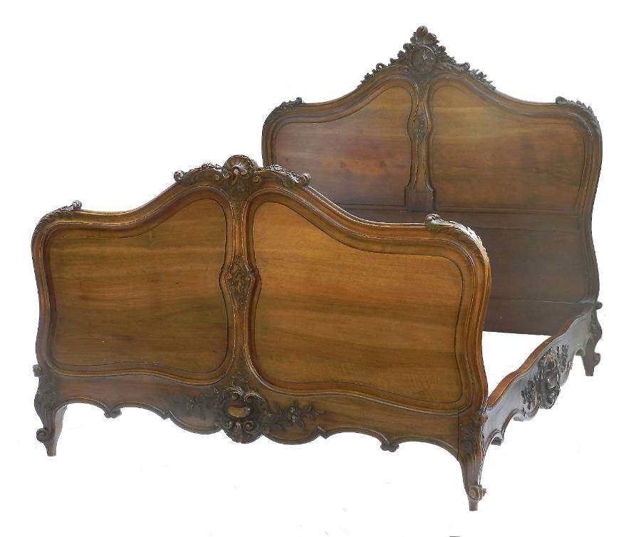 French Louis XV Bed 19th century Rococo US Queen UK King size European King