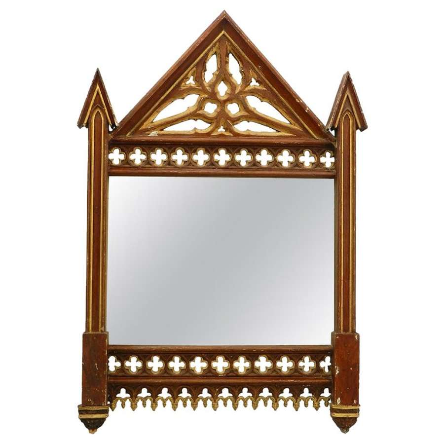 19th Century Gothic Wall Mirror Frame No.2 (two available see other listings)