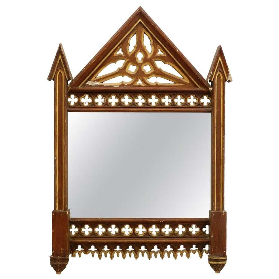 19th Century Gothic Wall Mirror Frame No.1 (two available see other listings)