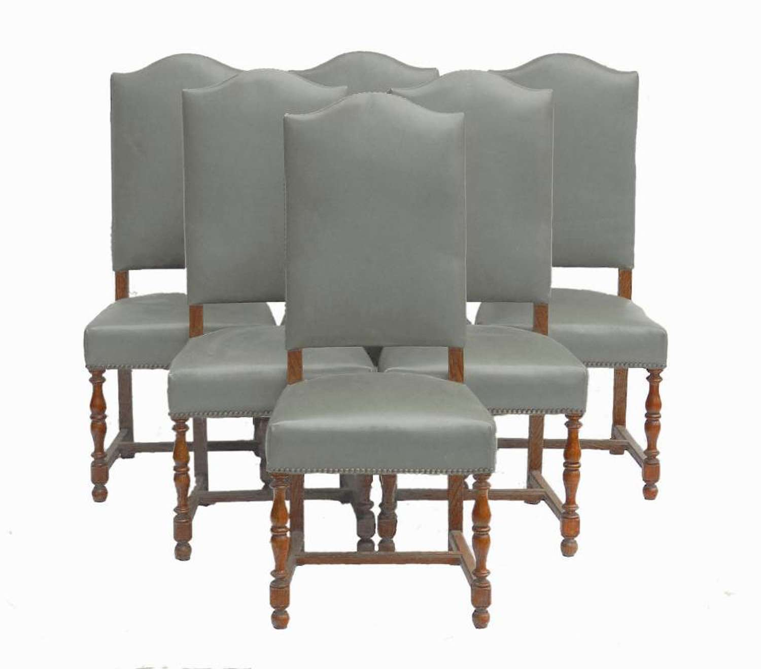 Six Dining Chairs includes recovering French early 20th century