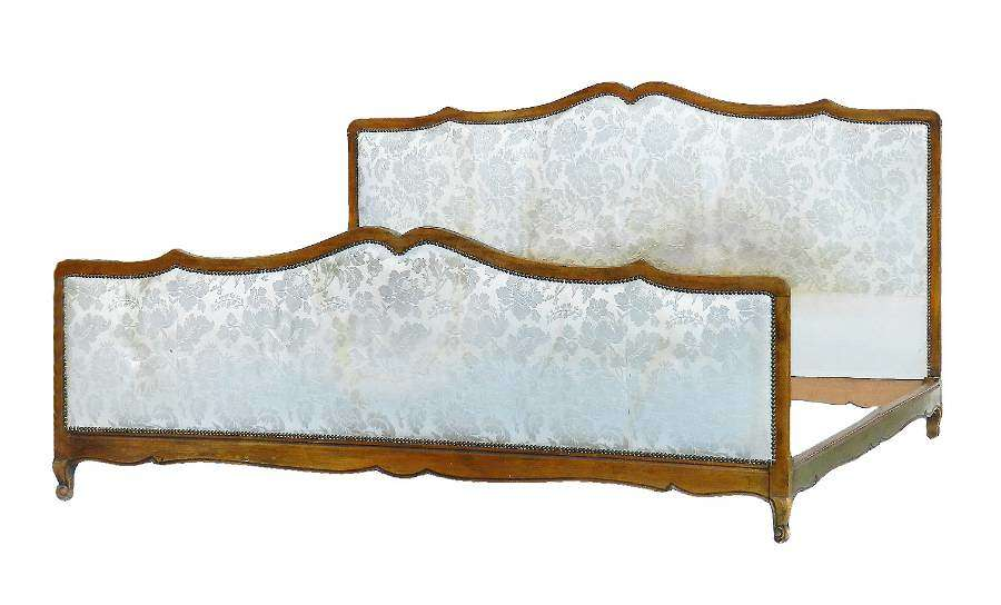Emperor Size French Antique Bed Huge 200cms 80 ins Wide includes Recover Customize
