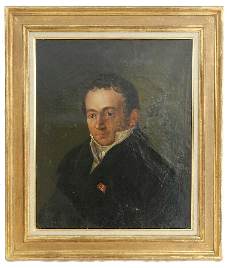 Early 19th century Portrait Painting of a French Gentleman Oil on Canvas