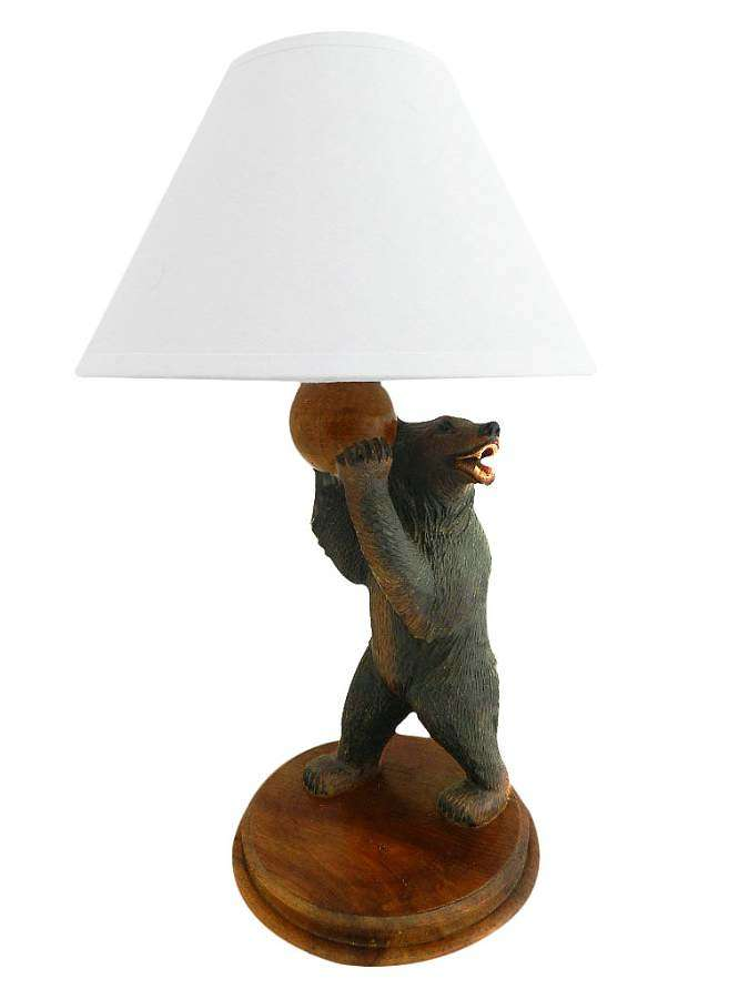 Black Forest Bear Table Lamp early 20th Century