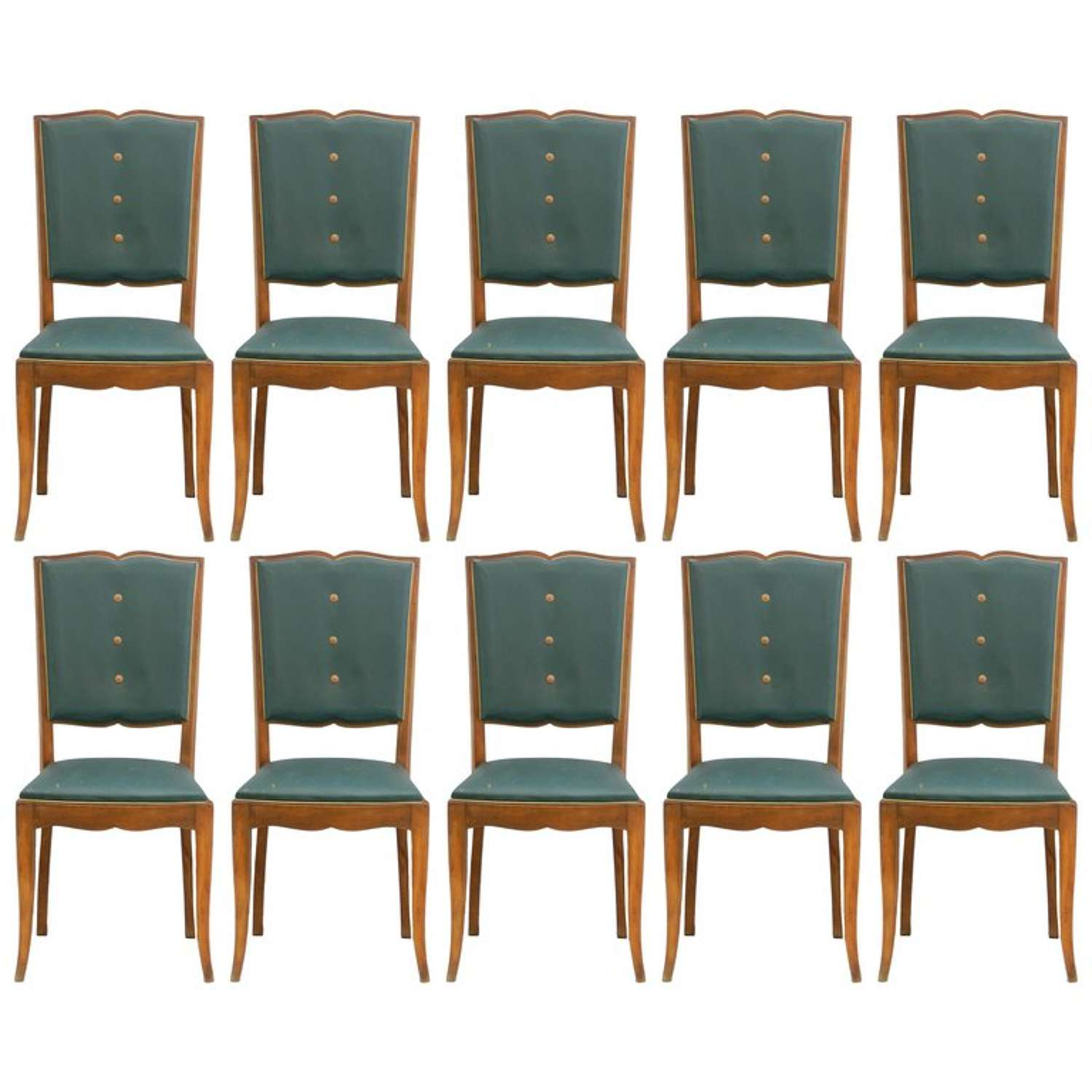Ten Art Deco Dining Chairs French Moustache Back to Restore or Customized