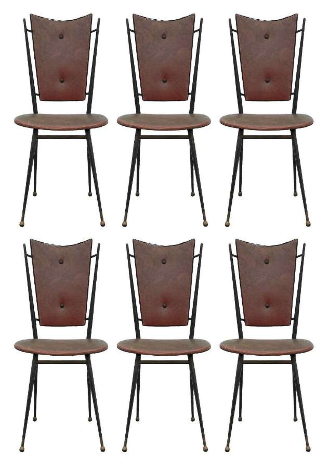 Six Midcentury Dining Chairs French to Restore Recover and Customize