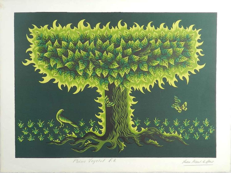Jean Picart Le Doux Lithograph Hand Signed Mid century c1950-1960
