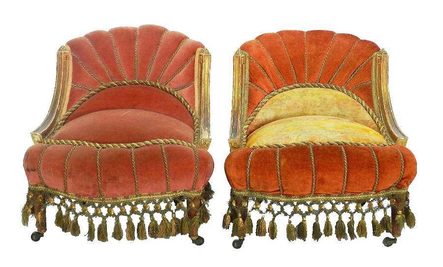 Pair Lounge Chairs Art Deco Armchairs Bohemian c1920-1930