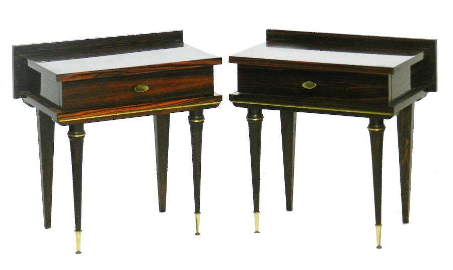 Pair of Nightstands Side Cabinets Bedside Tables French Mid Century