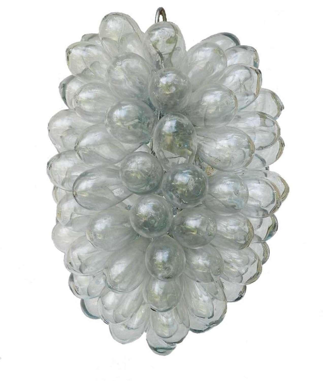 Mid Century Blown Glass Pendant Chandelier