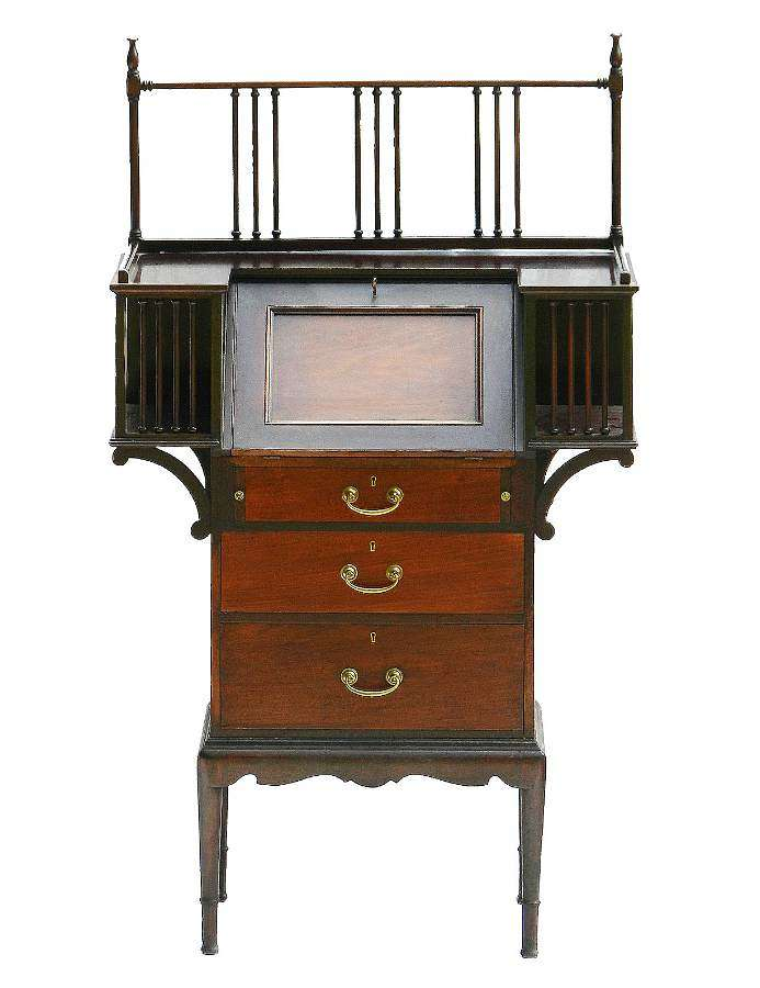 Arts and Crafts Writing Desk Bureau Mahogany c1910
