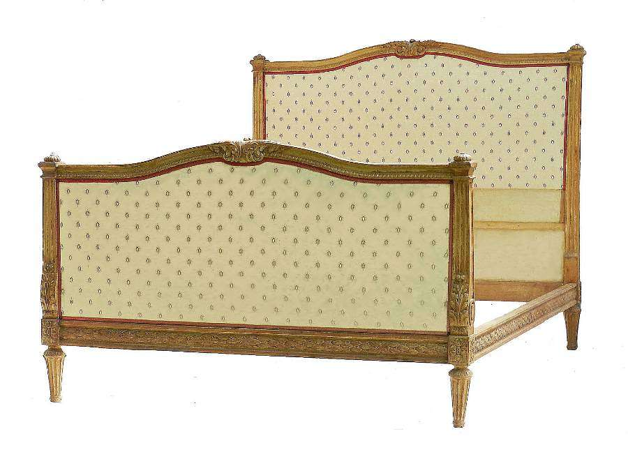 Antique French Bed US Queen UK King-Size 19th Century Louis XVI, circa 1850