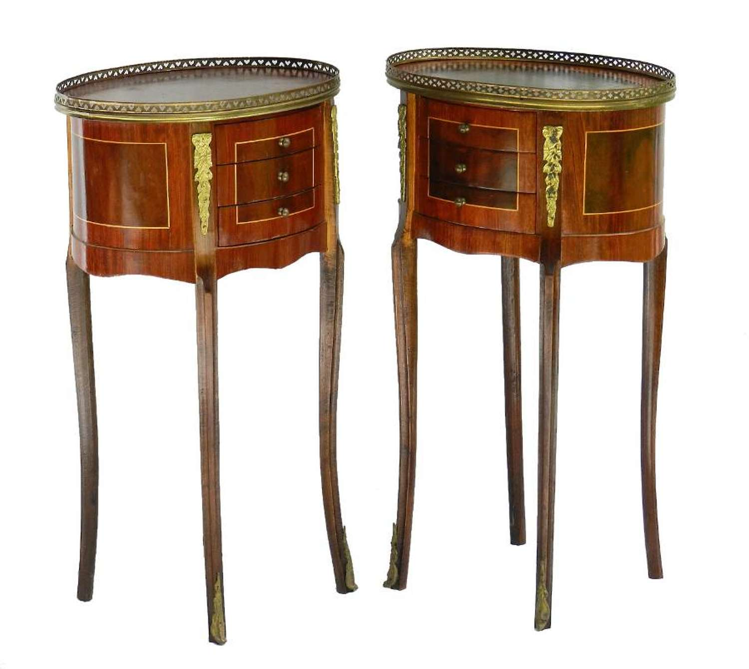 Pair of French Nightstands Side Cabinets Bedside Tables Louis XVI, circa 1920s