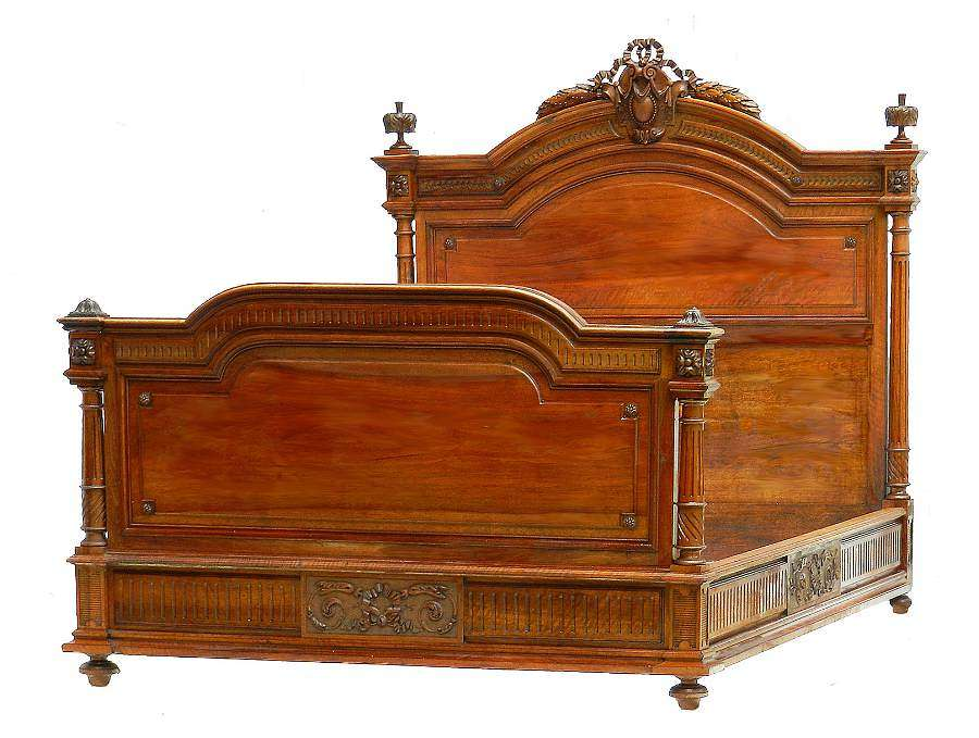 Antique French Bed US Queen or UK King Size 19th Century Louis XVI c 1840