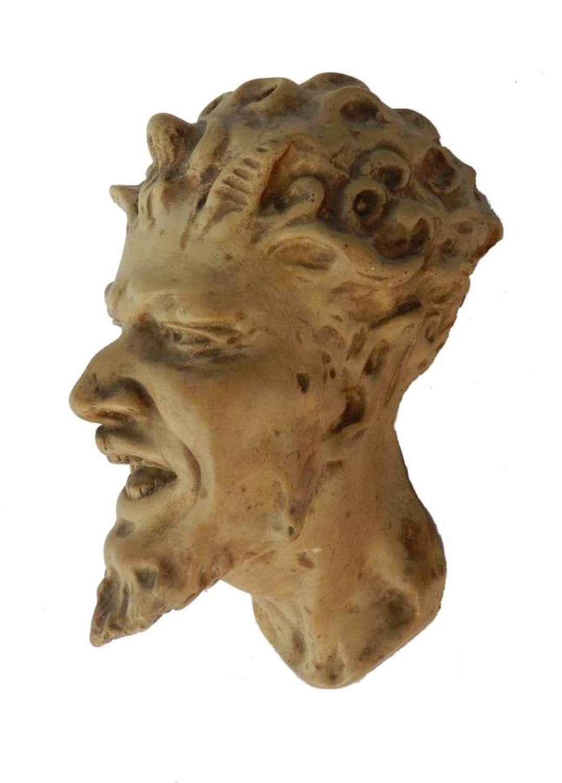 Plaster Head Mephistofeles Faust French 1920