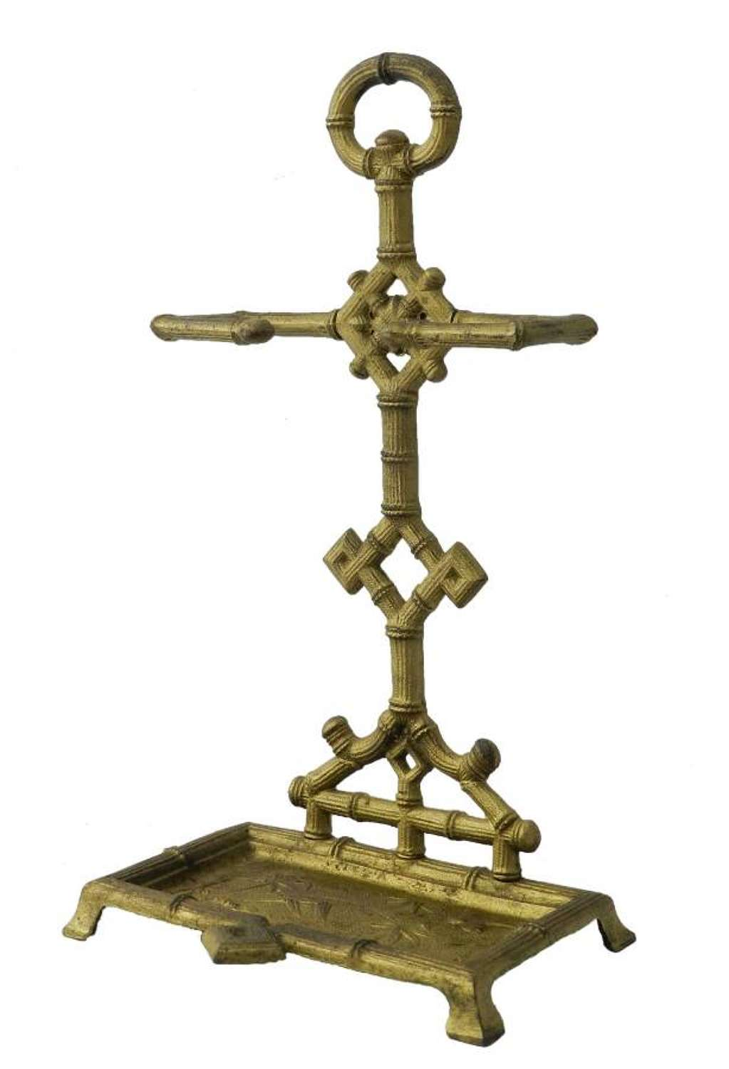 Diminutive Stick Stand Cast Iron Faux Bamboo Aesthetic Chinoiserie