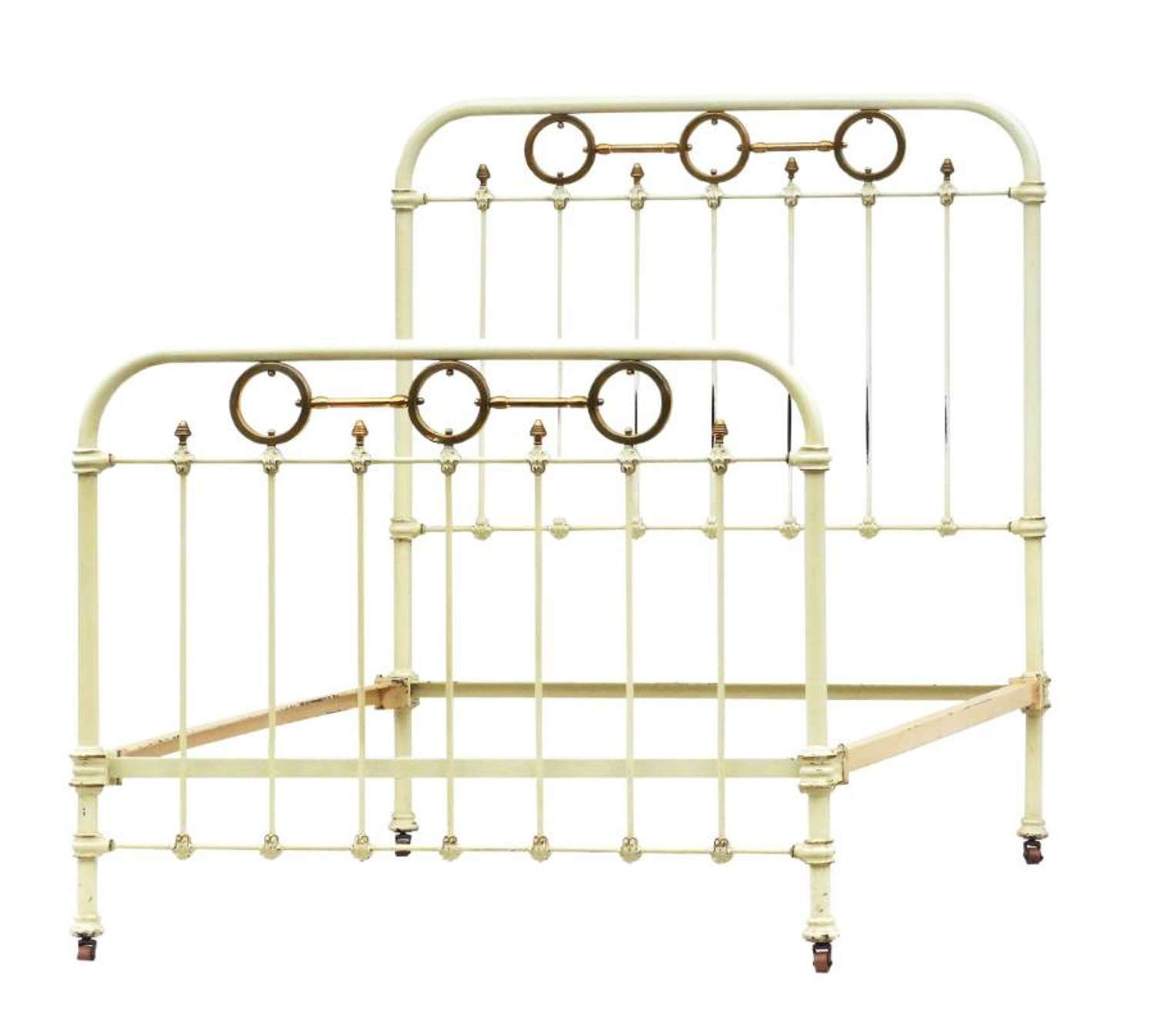 French Iron and Brass single Bed c1890