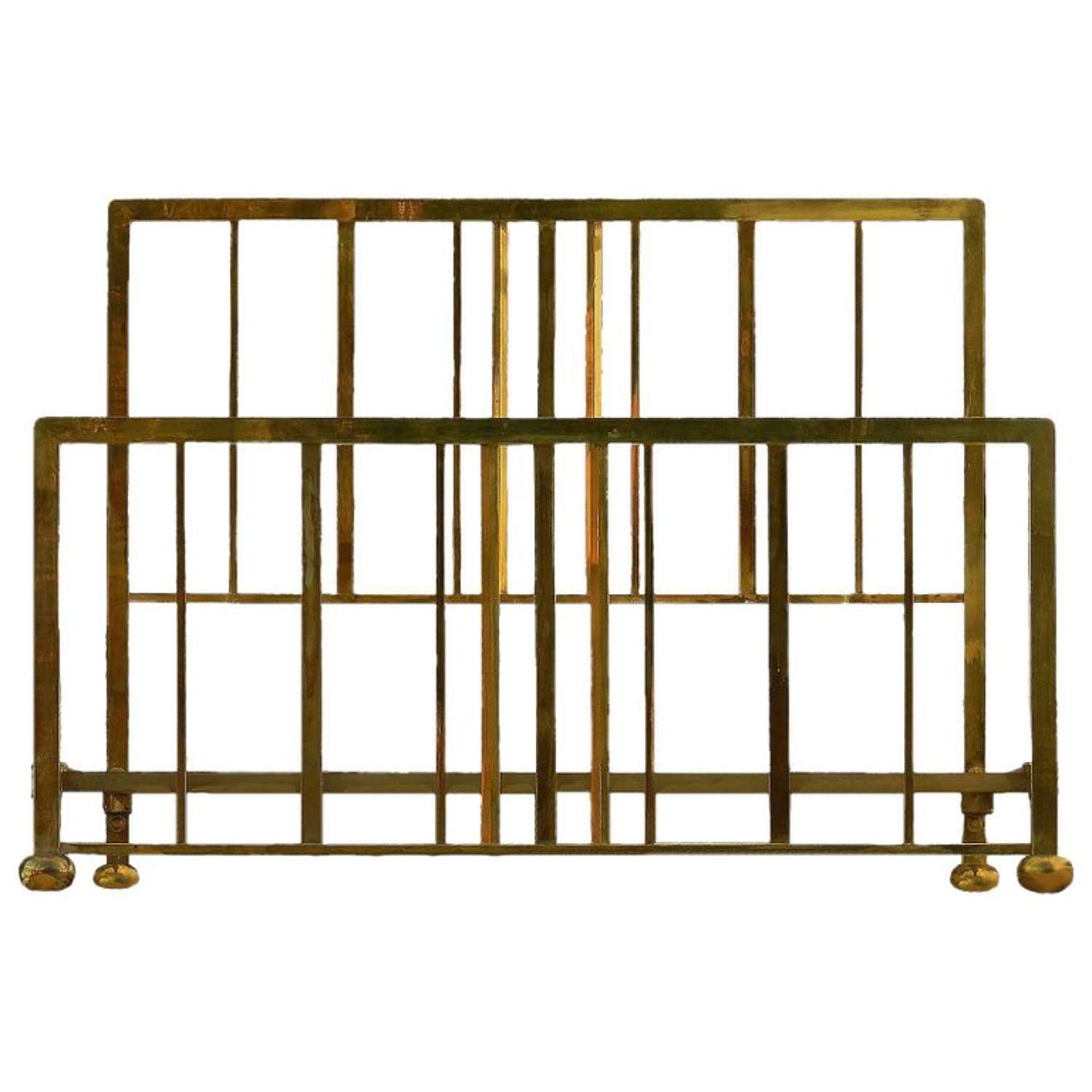 Art Deco Brass Bed US Queen or UK King Size, circa 1930