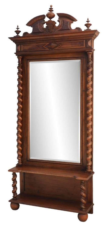 French Dressing Mirror 19th Century Louis Barley Twist