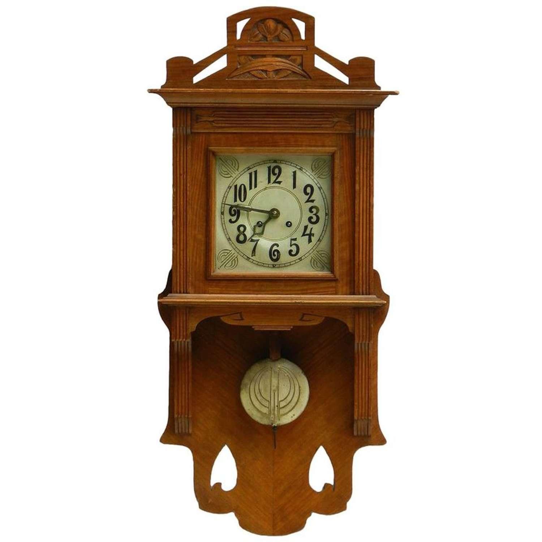Arts & Crafts Wall Clock German Art Nouveau, circa 1900-1910