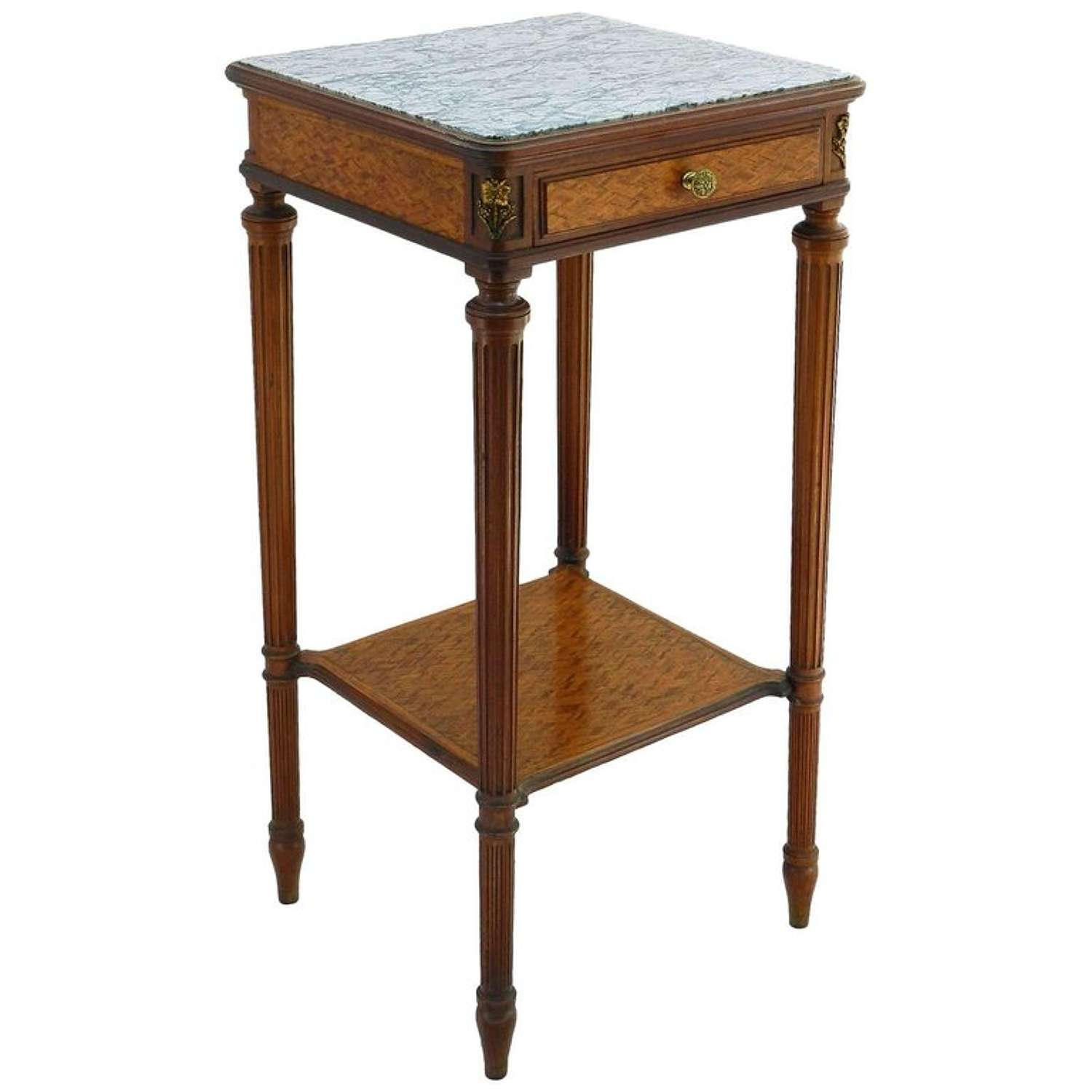 Louis XVI Style Side Table French Early 20th Century Empire Revival Makers Label