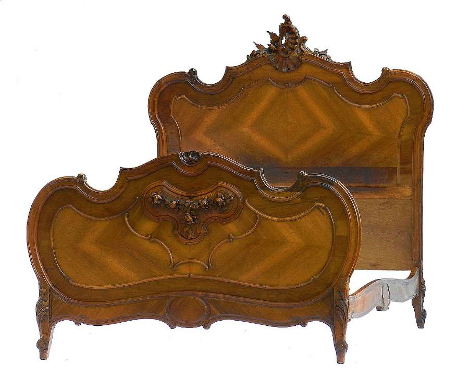 French Bed 19th century Louis Rococo