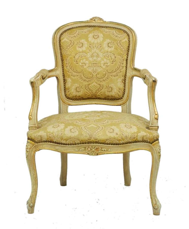 Italian Open Armchair Venetian Louis revival