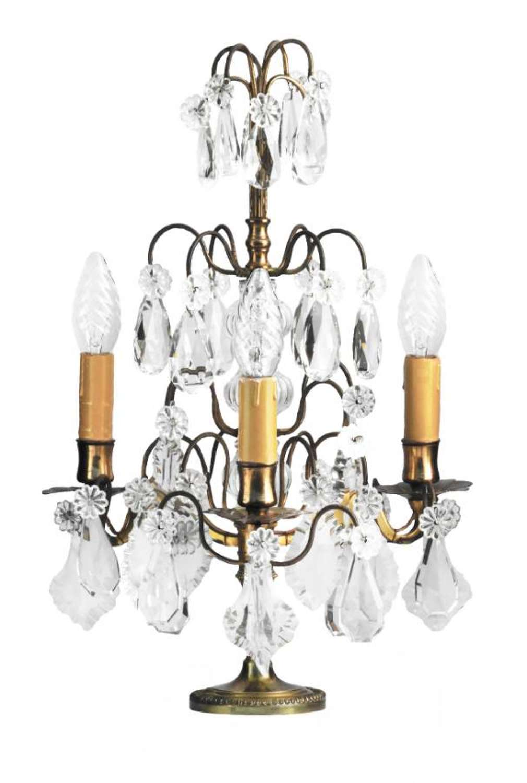 French Girandole Table Lamp 19th Century Candelabra