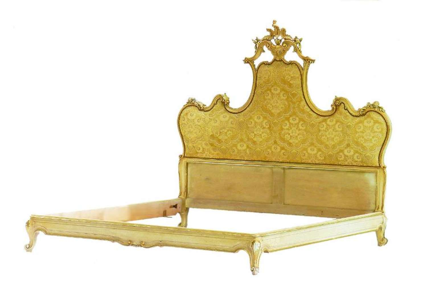 Italian Bed to Recover or Headboard Louis Revival UK Super King Carved Venetian
