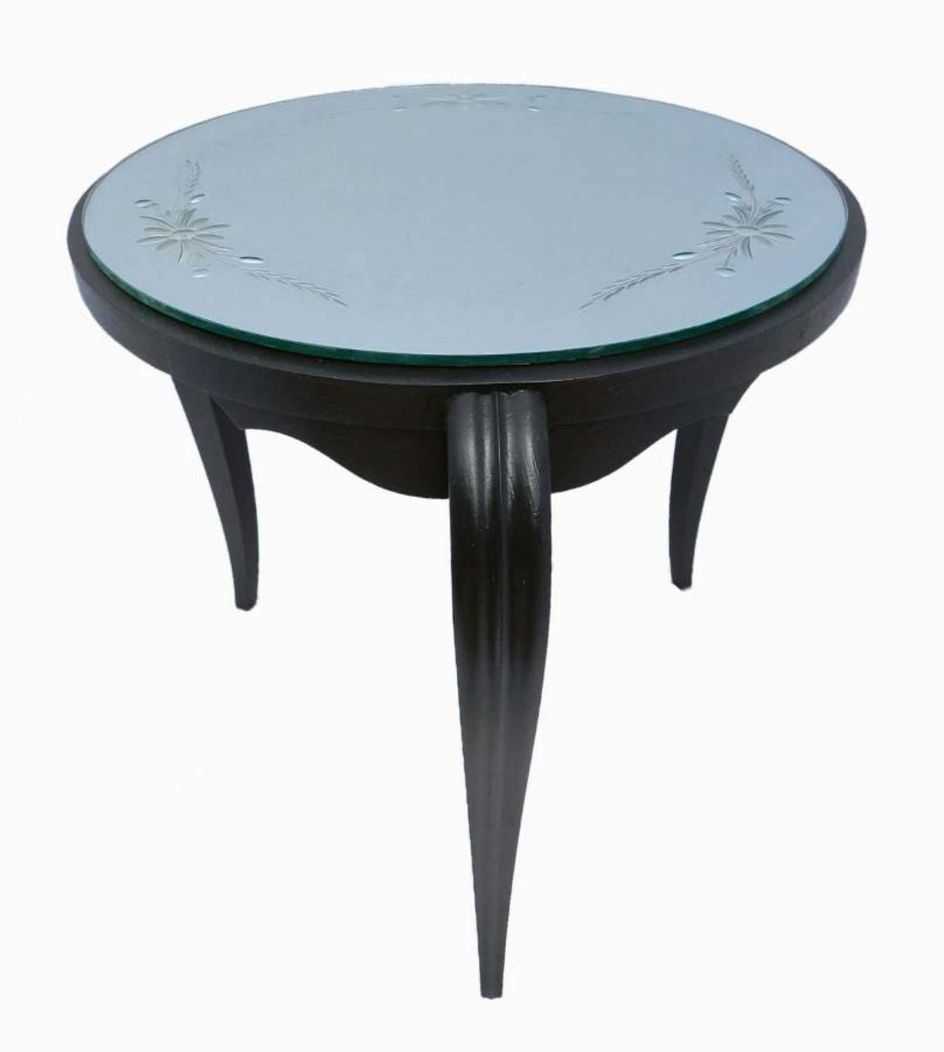 Art Deco Table Mirror Top Ebonised Coffee Occasional