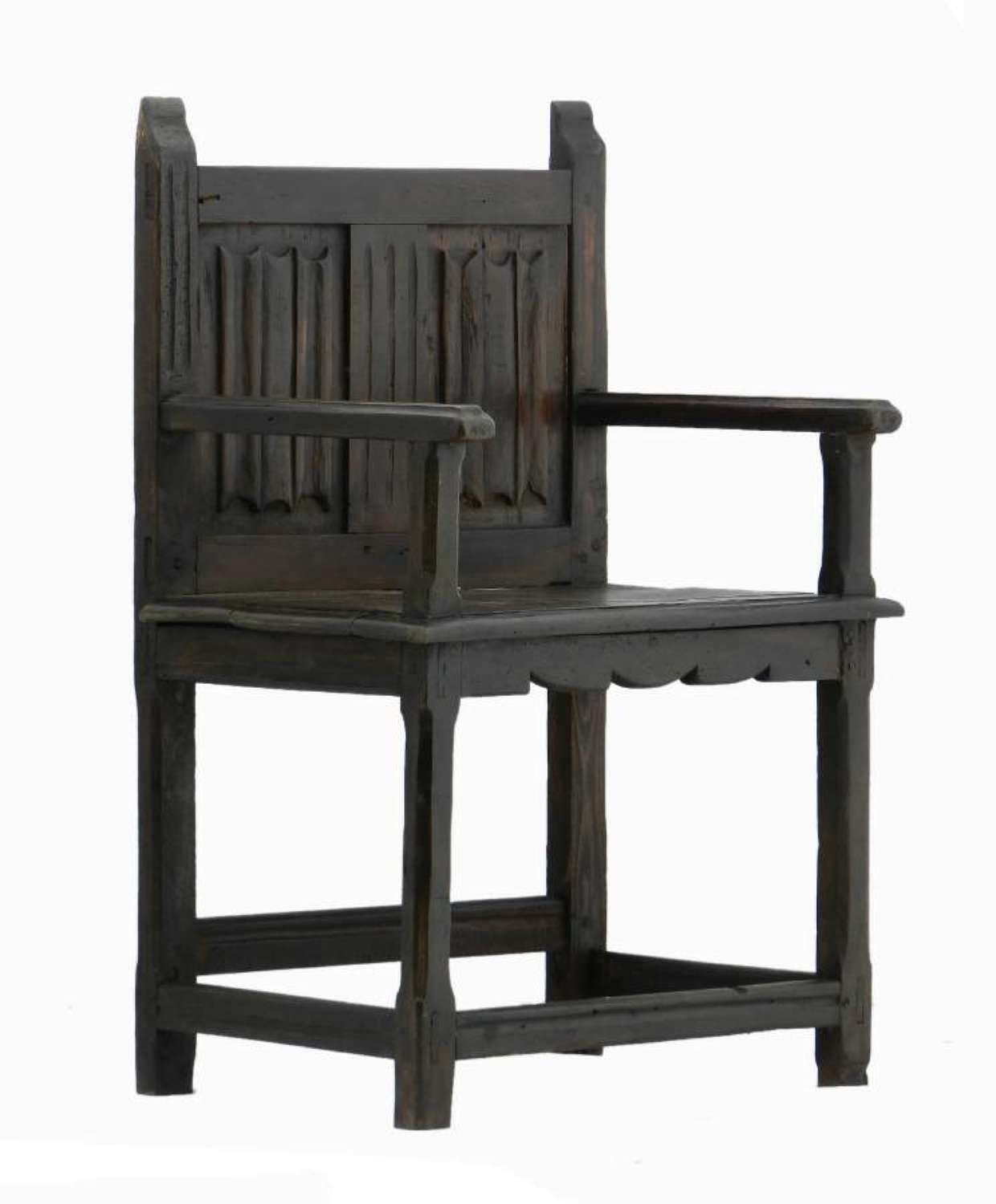 French Country Side Chair 19th Century Gothic Revival Provincial
