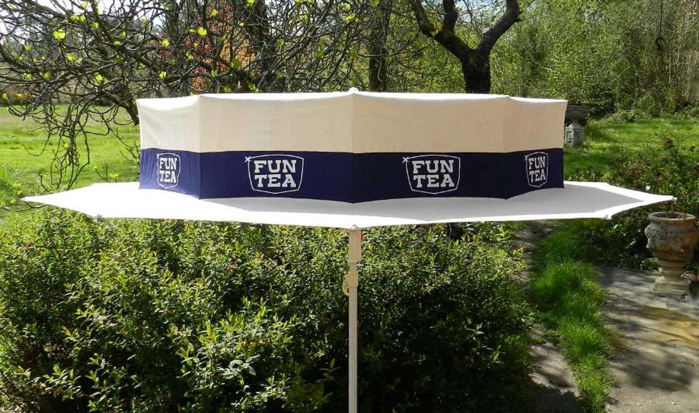 Garden Parasol Boater Hat Advertising Fun Tea
