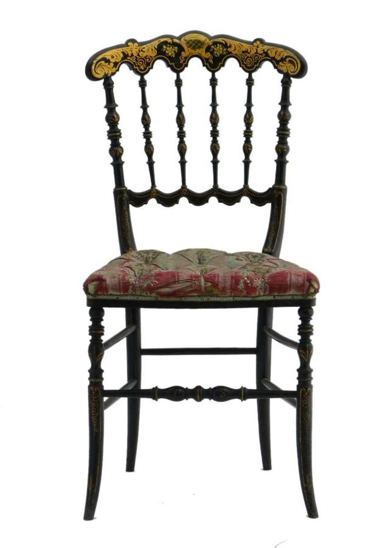 French Napoleon III Chair Chinoiserie Chiavari