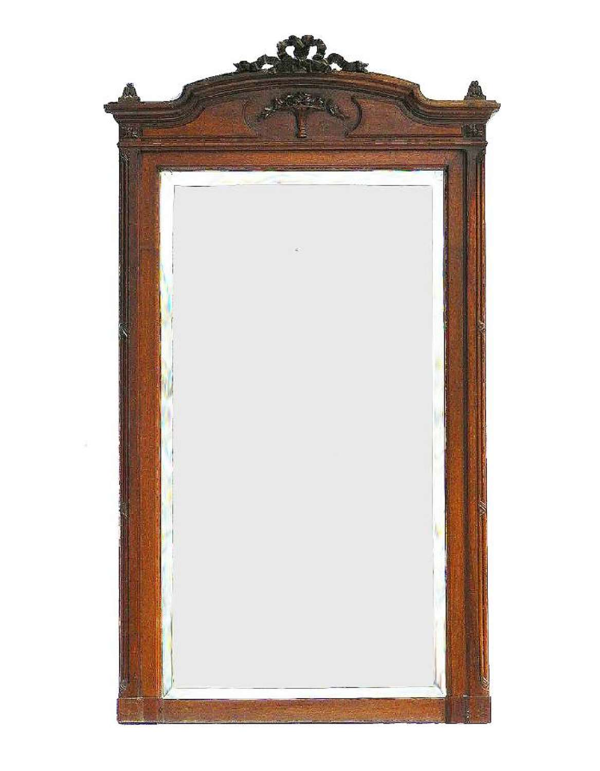 French Mirror Full Length or Overmantle 19th Century Louis XVI