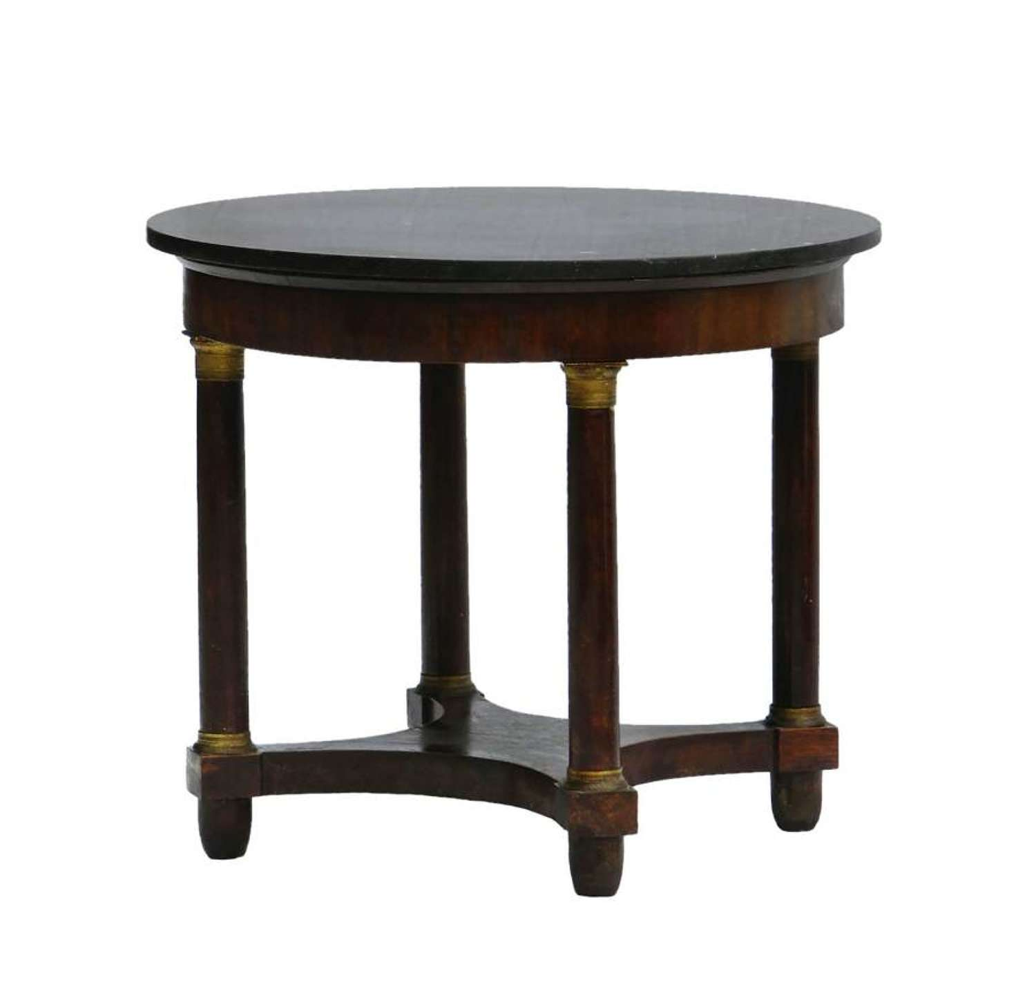 French Gueridon Table 19th Century Second Empire Ormolu Bronze Marble Top