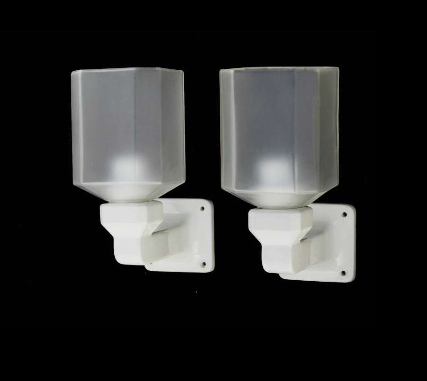 Pair of Art Deco Wall Lights French Ceramic Sconces 2 pairs available