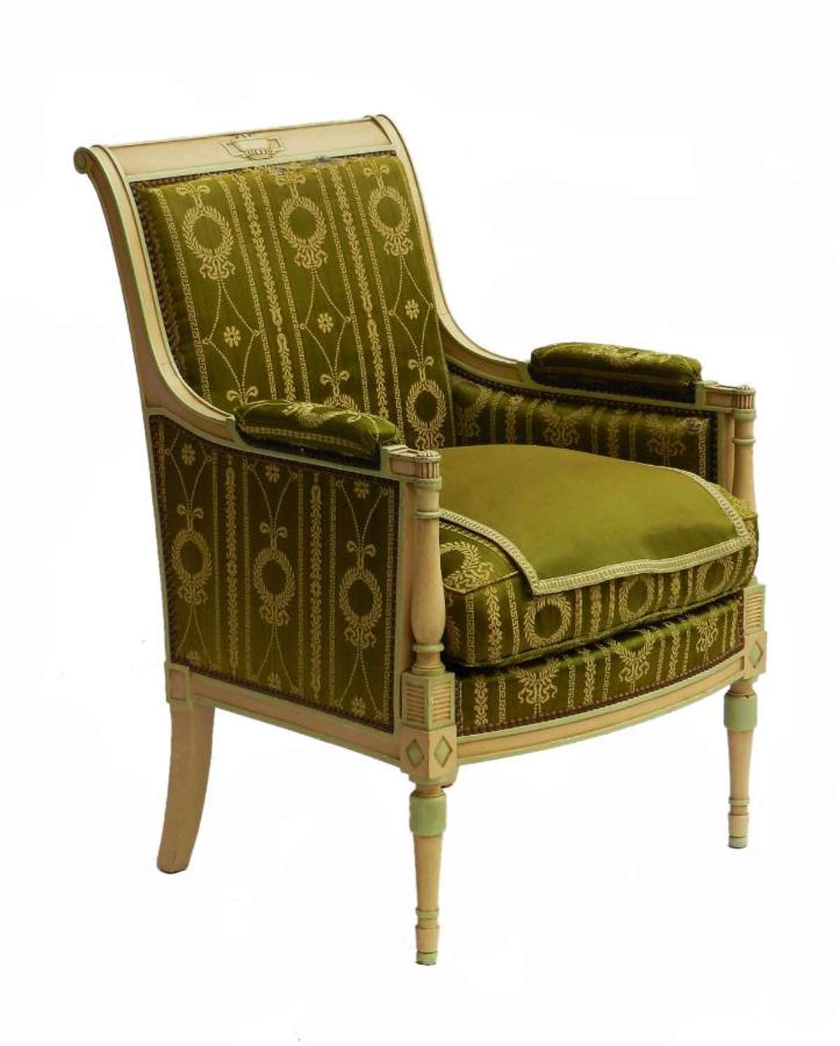 Directoire Empire Revival Bergere Original Paint to recover