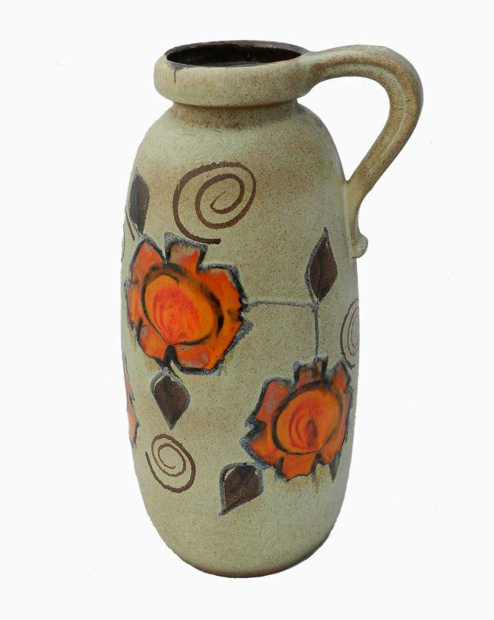 Large Mid Century German Floor Vase Art Pottery Stick Umbrella Stand