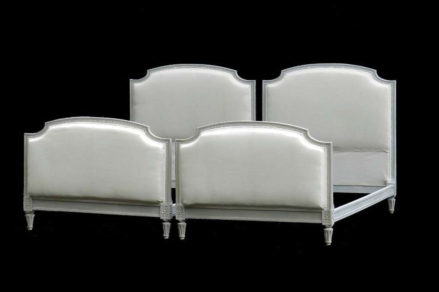 Pair of French Single Beds + Bases