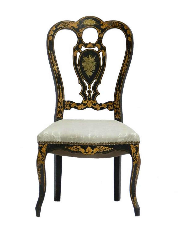 French Napoleon III Side Chair Chinoiserie Boudoir Bedroom
