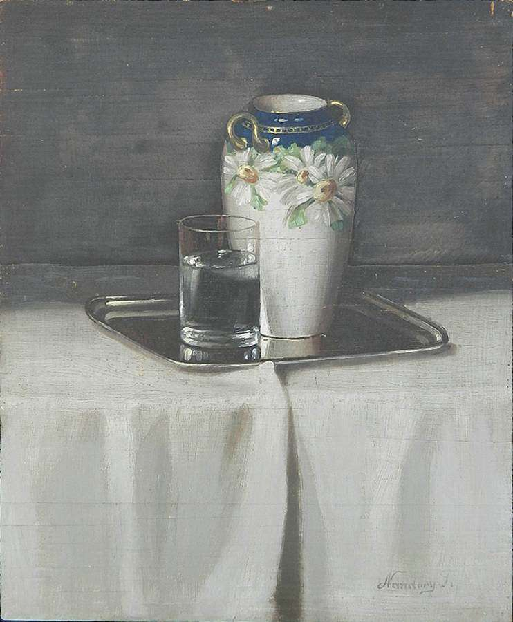 Armenian Signed Still Life Painting Oil on Panel early Nuridsány