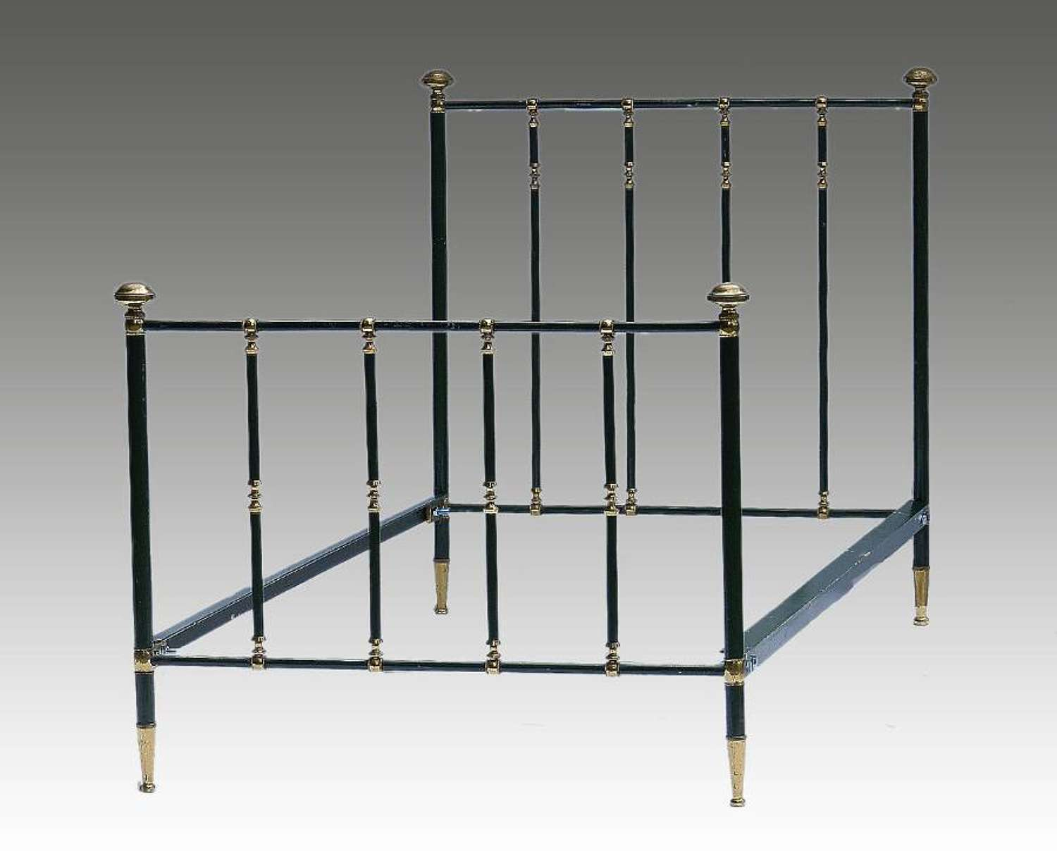 French Brass & Iron Bed Single early C20