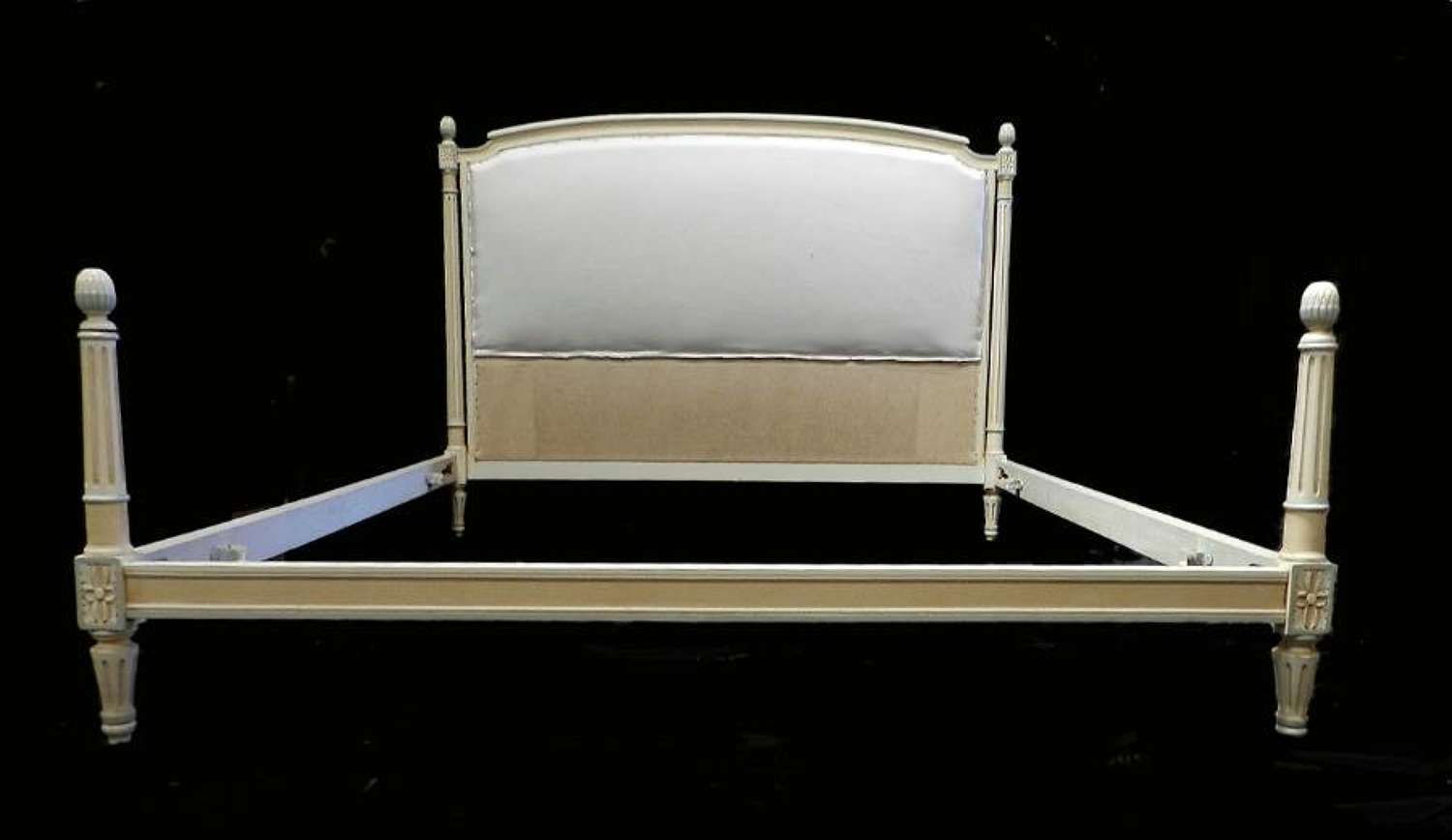French Bed + Base to calico ready for top covers UK King size US Queen