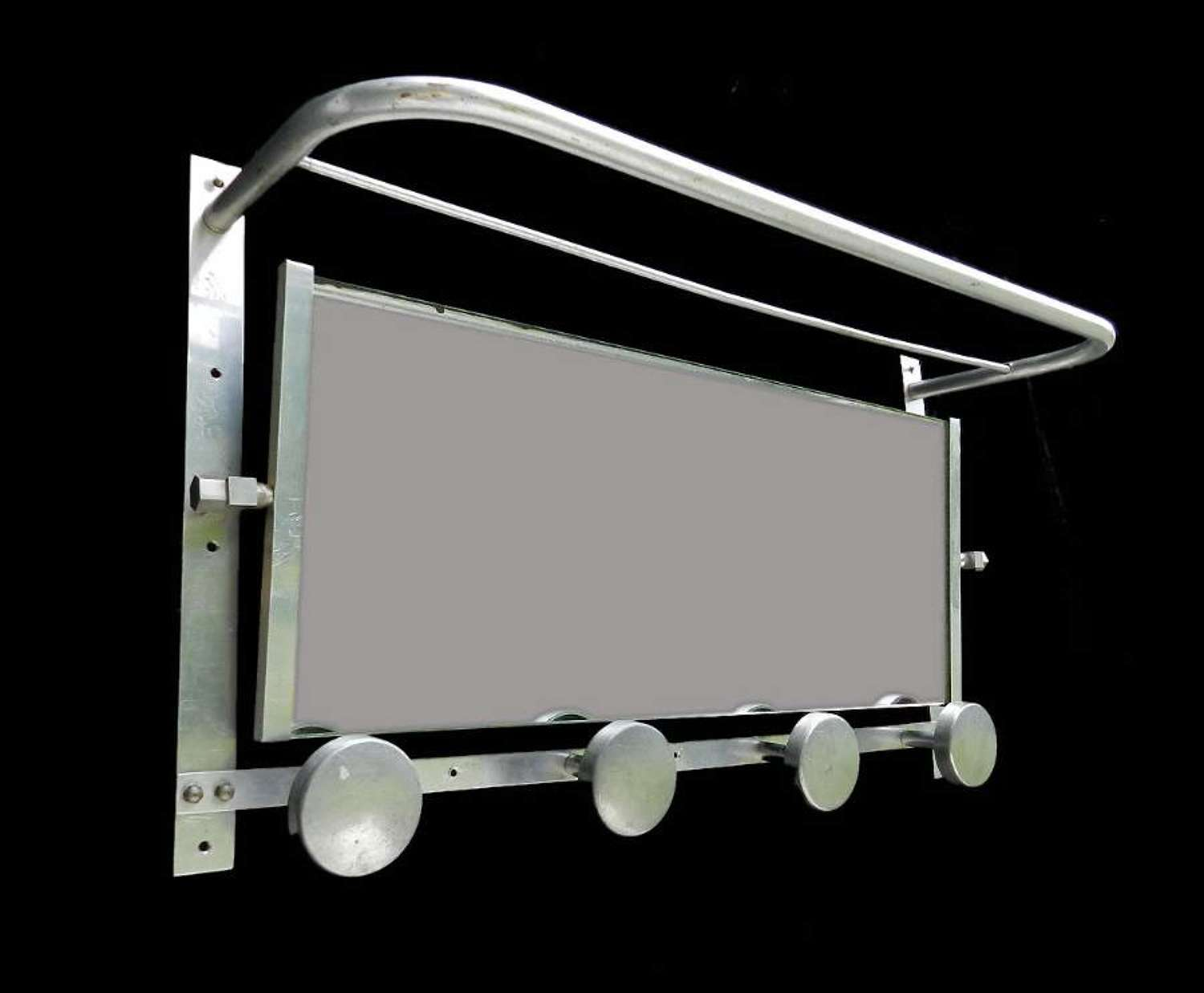 Mid Century Coat and Hat Rack Swing Mirror wall mounted