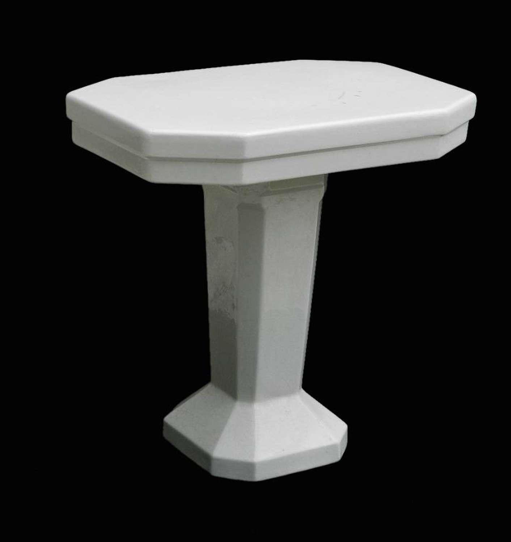 French Art Deco Dressing Table Porcelain Bathroom Pedastal Vanity Shav