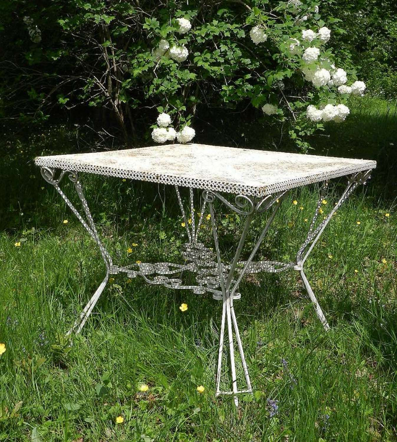French Garden Table Iron early C20